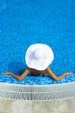 kapeluszowa biała kobieta Zdjęcia Royalty Free