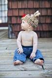 kapeluszowa chłopiec dzianina Zdjęcie Stock
