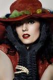 kapeluszowa czerwień Zdjęcie Stock