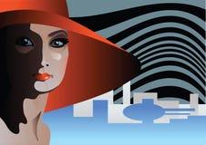 kapeluszowa czerwień Zdjęcia Royalty Free