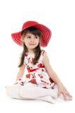 kapeluszowa czerwień Obrazy Royalty Free