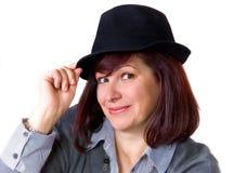 kapeluszowa dama Obraz Royalty Free