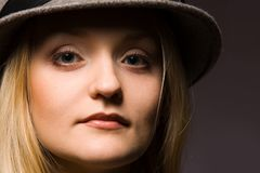 kapeluszowa kobieta Zdjęcia Stock