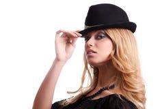 kapeluszowa kobieta Obraz Royalty Free