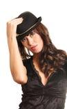 kapeluszowa kobieta Zdjęcie Stock