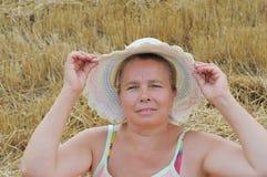 kapeluszowa kobieta Obraz Stock