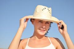 kapeluszowa kobieta Zdjęcia Royalty Free