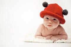 kapeluszowa mała czerwień fotografia royalty free
