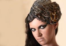 kapeluszowa oryginalna kobieta Zdjęcia Stock