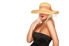 kapeluszowa słoma Fotografia Stock