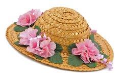 kapeluszowa słoma Obrazy Royalty Free