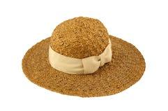 kapeluszowa słoma Fotografia Royalty Free