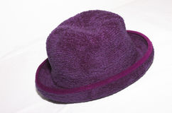 kapeluszowe purpurowy obraz stock