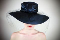 kapeluszowe wargi Obraz Stock