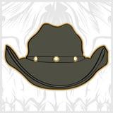 Kapeluszowej kowbojskiej ręki rysunkowy wektor ilustracja wektor