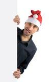kapeluszowi mężczyzna Santa potomstwa Fotografia Royalty Free