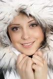 kapeluszowi portreta zima kobiety potomstwa Zdjęcia Royalty Free