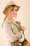 kapeluszowi safari odzieży kobiety potomstwa Zdjęcie Royalty Free