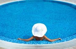 kapeluszowy blondynka biel Fotografia Stock
