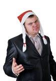kapeluszowy Claus mężczyzna Santa Zdjęcie Royalty Free