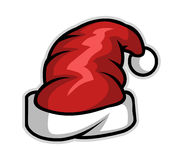 kapeluszowy czerwony Santa Ilustracji