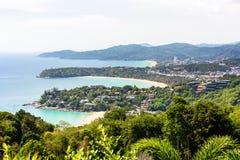 Kapeluszowy Kata Karon punkt widzenia w Phuket wyspie Obrazy Royalty Free