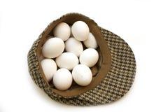 Kapeluszowy pełny jajka Obraz Royalty Free