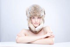 kapeluszowy rosjanin zdjęcie stock