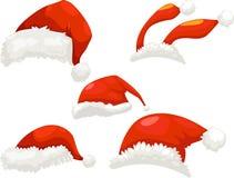 kapeluszowy Santa Fotografia Royalty Free