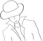 kapeluszowy target1405_0_ mężczyzna Zdjęcia Royalty Free