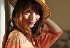 kapeluszu wzorcowi Nicole kobiety yeager potomstwa Fotografia Royalty Free