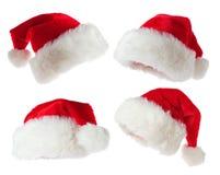 kapeluszy Santa set Zdjęcia Stock