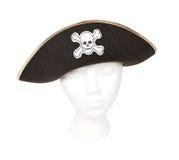 Kapern Sie Hut mit dem Schädel und den gekreuzten Knochen Lizenzfreie Stockbilder