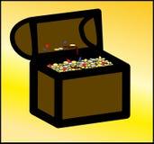 Kapern Sie Schatz-Kasten Stockfotos