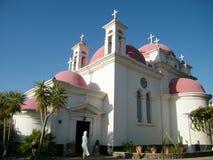 Kapernaum view of Greek Orthodox Church 2010 Royalty Free Stock Image