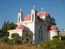 Kapernaum view of Orthodox Church 2010 Royalty Free Stock Photos