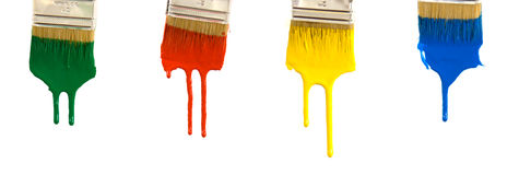 kapiąca farbę. Zdjęcia Stock