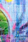 Kapiąca farba graffiti ściana Obraz Royalty Free
