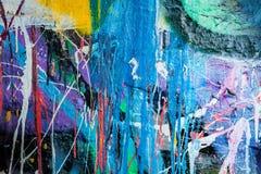 Kapiąca farba graffiti ściana Fotografia Stock