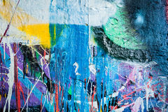Kapiąca farba graffiti ściana Zdjęcia Royalty Free