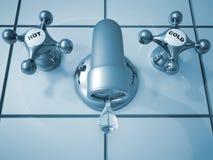 kapiący faucet Fotografia Stock