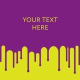 Kapiący purpury farby tło pojęcia projekta restauraci szablon royalty ilustracja