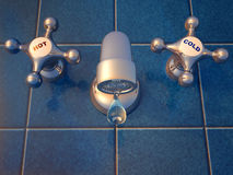 kapiący faucet Obraz Royalty Free