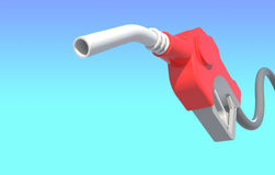kapiąca benzynowego nozzle pompa Fotografia Stock