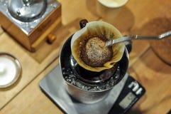 Kapinos kawy ustalony narządzanie barista Obraz Royalty Free