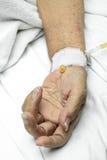 kapinosa ręki intravenous pacjent zdjęcia royalty free