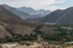 Kapisa valley in afghanistan Royalty Free Stock Photo