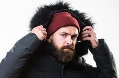 Kapiszon dodaje ciepło i pogoda opór Dlaczego wybierać najlepszy zimy kurtkę Zima sezonu menswear Pogodowy Odporny fotografia stock