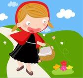 kapiszon jazda mała czerwona Fotografia Royalty Free
