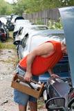 kapiszonu junkyard Zdjęcie Royalty Free